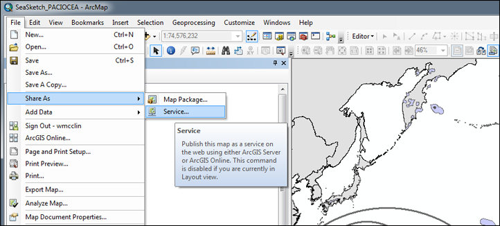SeaSketch and ArcGIS Online for Organizations